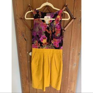 Tabitha Anthropologie silk sleeveless casual dress